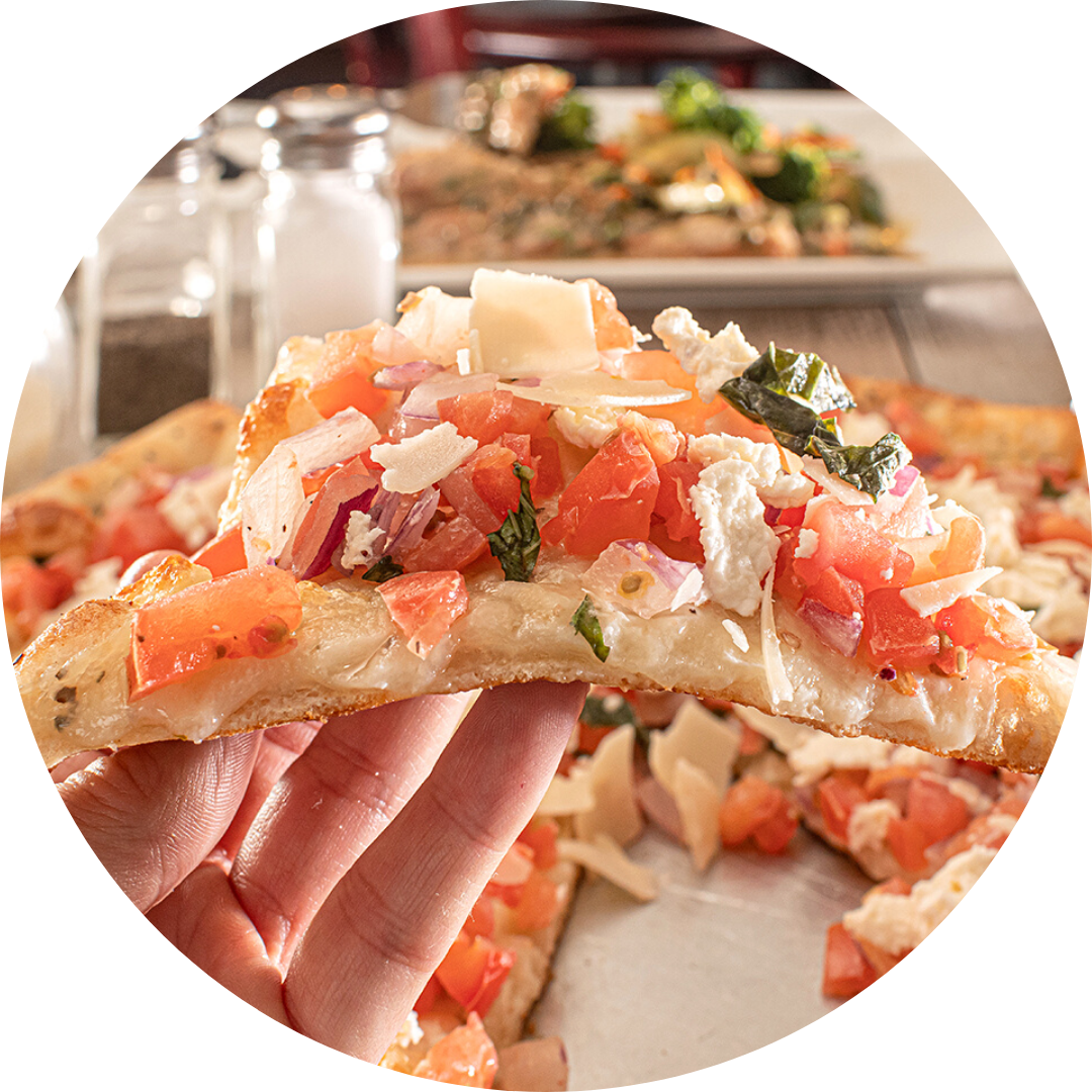 Bruschetta Pizza with Fresh Mozzarella