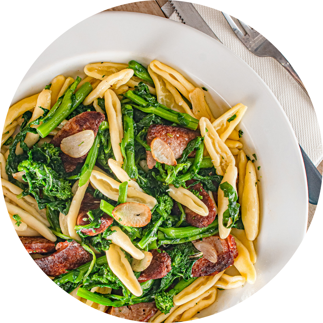 Cavatelli With Broccoli Rabe & Sausage