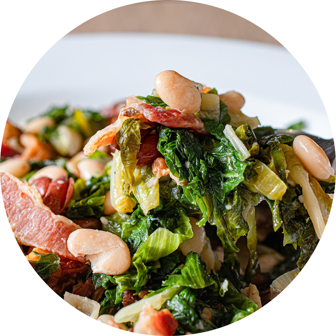 Escarole & Beans with Garlic & Bacon