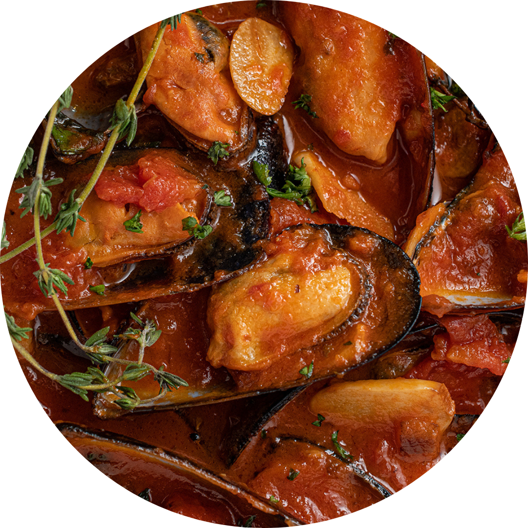 Mussels In A Fresh Tomato Sauce