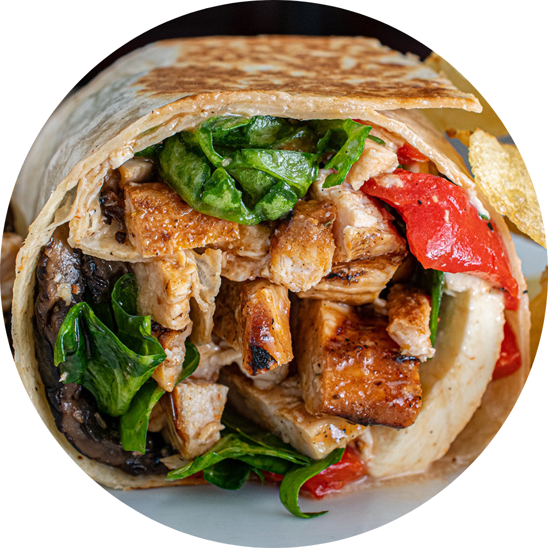 Portobello Chicken Wrap