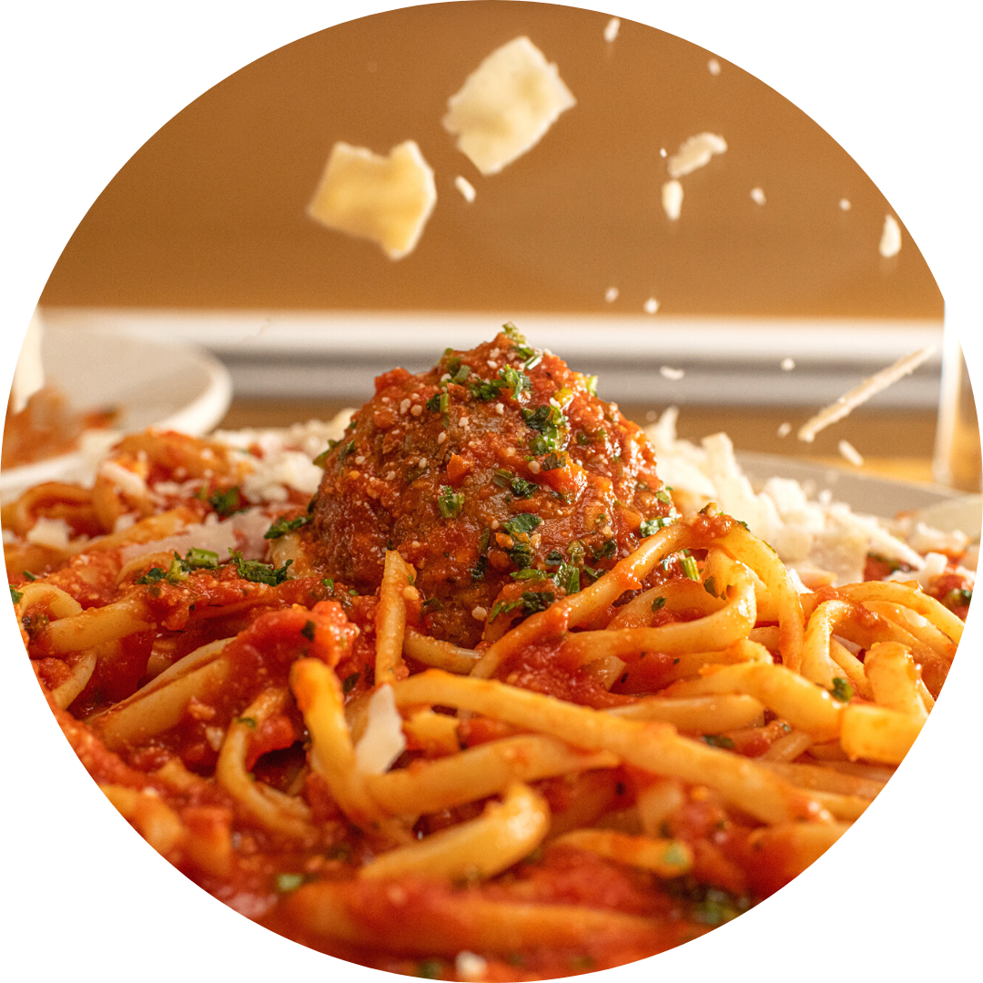 Spaghetti or Penne with Meatballs or Sausage